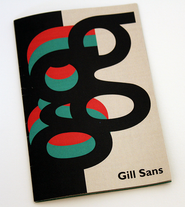 fontboekje gill sans lay-out
