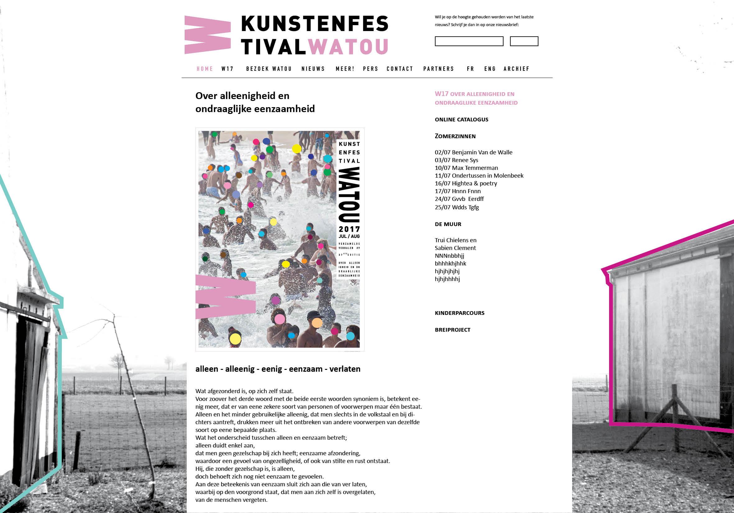 Watou 2017 webdesign